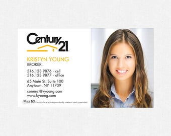 "Century 21 business card magnets - 2""x3.5""- FREE UPS ground shipping"