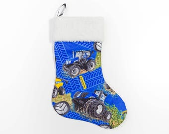 New Holland Tractor and Combine Christmas Stocking