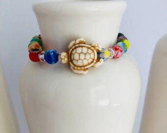 Kids Turtle Beaded Bracelet