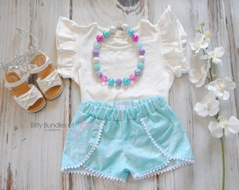 Elsa Inspired Shorts - Frozen Coachella Shorts - Princess Outfit - Princess Shorts - Snow White Outfit - Frozen Birthday Outfit