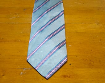 Vintage 7 Fold Slim Silk Tie Made In Italy