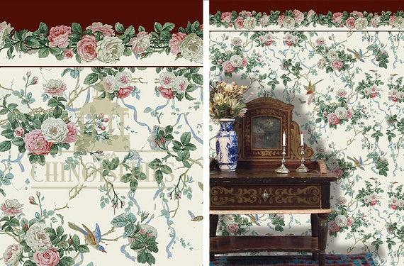 Dollhouse Miniature Wallpaper, Jane, Scale One Inch