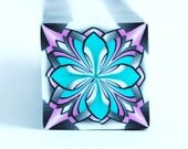 Polymer Clay Cane Kaleidoscope, raw and unbaked cane, square cane, Millefiori,  Premo Fimo cane
