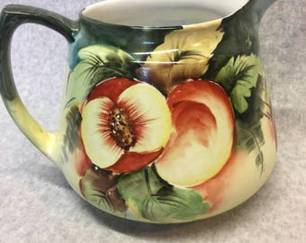 Carrollton China Hand Painted Pitcher
