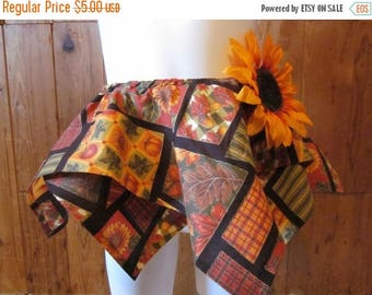 On Sale Autumn Square Skirt with Hair Clip