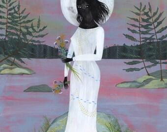 PRINT - The Moon Maiden - Lisa Vanin