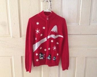 Medium zip-up *FESTIVE* sweater!