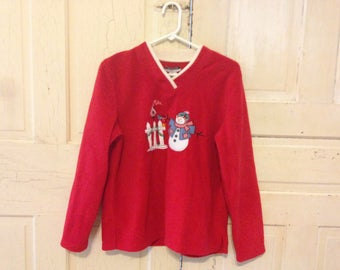 Christmas Snowman Fleece - size Medium