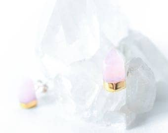 Gold Dipped Rose Quartz Points