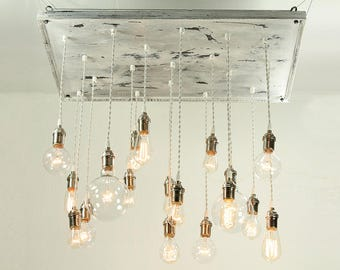 cottage chic chandelier shabby chic chandelier vinatge whitewashed chandelier with nostalgic edison bulbs