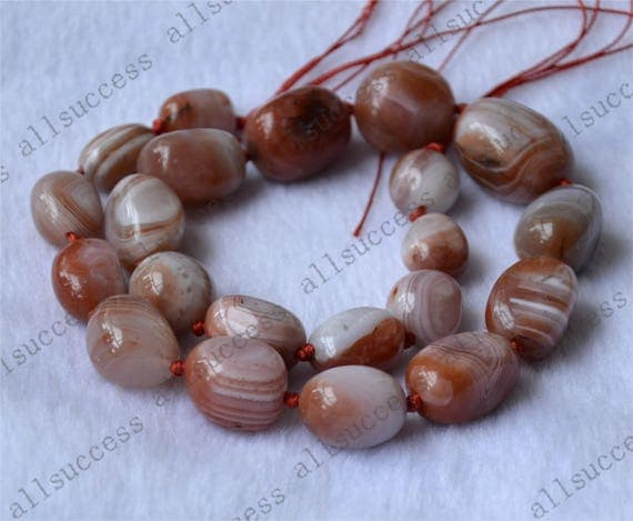 Knotted Agate gemstone nugget stone beads loose strands