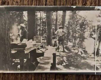Original Vintage Photograph | Campground Chaos