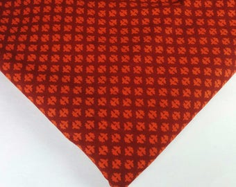Rust and Orange Cambric Cotton - Hand Block Printed Indian Cotton Fabric - Dress Fabric-Printed Dress Cotton Fabric by Yard