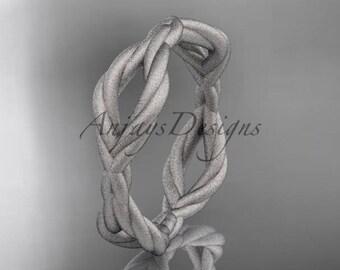 platinum rope matte finish wedding band RP898G