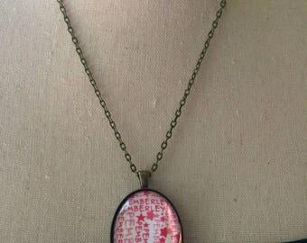 Handmade Jane Austen Necklace, Pemberley Necklace Jewelry, Pride and Prejudice. Austen pendant, Jane Austen Gifts, Pemberley Austen