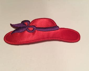 Red Hat Lady Applique - Iron On