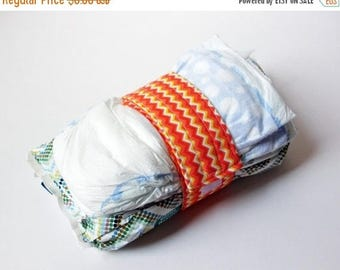 FINAL CLEARANCE Clearance Chevron Diaper Strap - Orange, Yellow and White Chevron