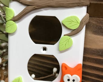Owl Outlet Cover, Single Outlet Plate, Owl Decor, Owl Outlet