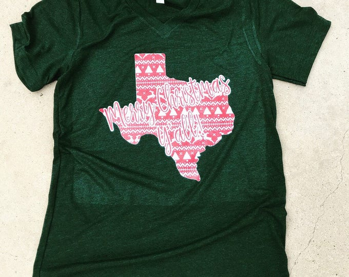 Ugly Christmas sweater Merry Christmas y'all Texas shirt