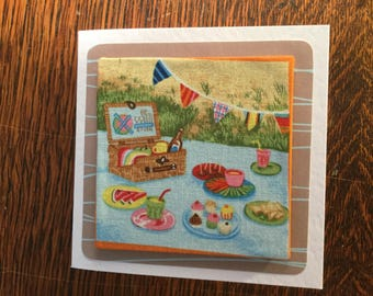 Fabric Seaside Card's 1 - see variations