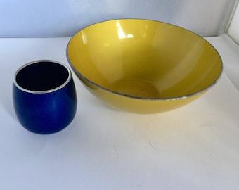 Two Vintage Emalox  Norway Enamelware Pieces