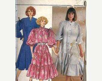 ON SALE VTG Butterick 3111 Misses Dropped Waist Dress Pattern, Drawstring Shoulder, Large-Xl Uncut