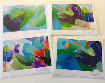Symphony Fantastique Silk Art Photography Cards           by Loba C. Chudak