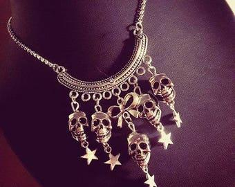 """Necklace silver pendants Calavera dia los muertos """"Skulls"""""""