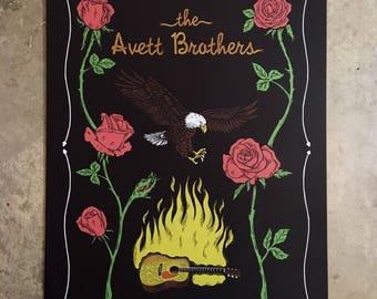 Avett Brothers Gig Poster - September 3, 2017