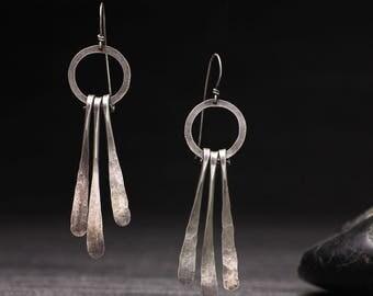 Hammered Waterfall Earrings
