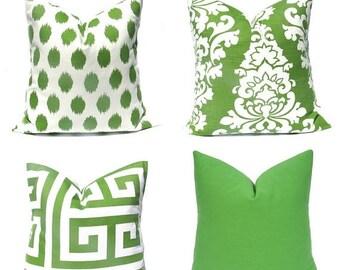 15% Off Sale Green Pillow Green Pillow Cover , Decorative Pillow Cover, Green Throw Pillow Cover, Kelly Green Pillow, Green Accent Pillow, G