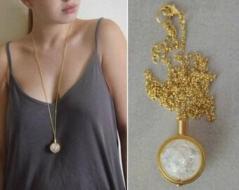 Jasper and gold pendant necklace long gold necklace gemstone glass pendant transparent pendant necklace crystal necklace white and gold pendant necklace mozeypictures Choice Image
