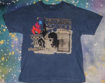 OLYMPICS Atlanta 1996 Centennial Sports T-Shirt Size M