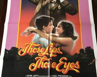 Movie poster, Those Lips, Those Eyes with Frank Langella.