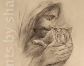 Kitten with Jesus