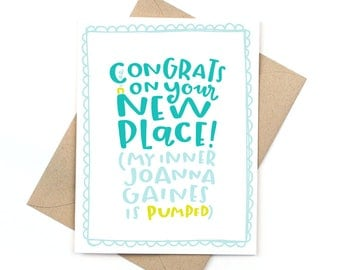 congrats new home card - my inner joanna gaines - fixer upper