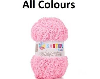 baby blanket yarn, Kartopu Anakuzusu 100 gr, Baby yarn, soft yarn, toy amigurumi yarn, Baby Blanket Fluffy Super Soft Crochet Knitting Yarn