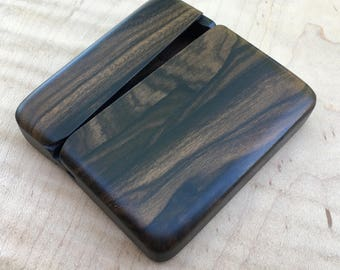 Square Business Card Case, Ziricote