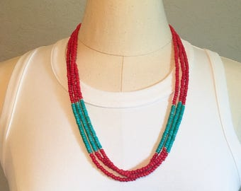 Triple Strand Summer Necklace