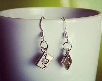POKER card earrings