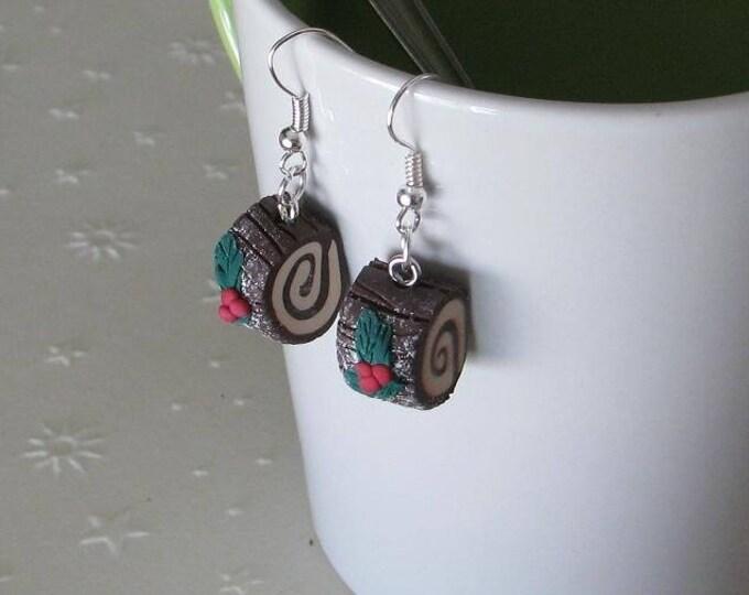 Earrings share ref 215 chocolate Christmas log