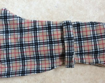 Italian greyhound Burberry fleece coats