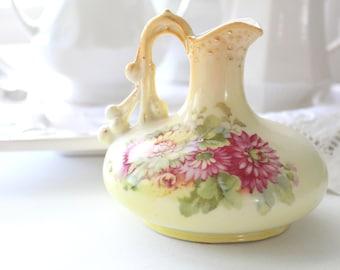 EWER, Vintage, Porcelain Australian Ewer/Pitcher, Gifts for Her, Cottage Style Home Decor, Jug, Floral Bud Vase
