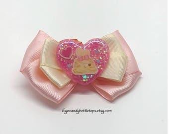 Pink Nilla Twirl Hair Bow