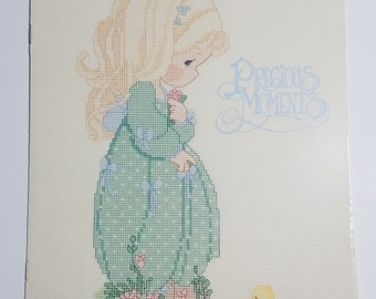 Counted Cross Stitch Pattern Summer's Joy Precious Moments by Gloria and Pat