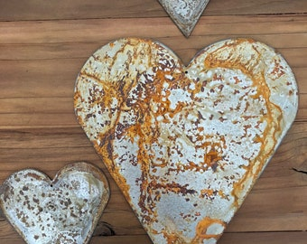 """Heart - 12"""" Rusty, Rustic Metal Heart - Make your own Sign, Gift, Art"""