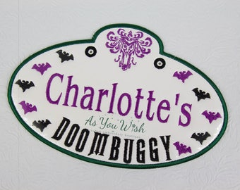 Haunted Doom buggy inspired Customized Stroller, wheel chair, ECV, and luggage tags Vacation