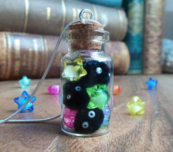 Soot sprites bottle necklace