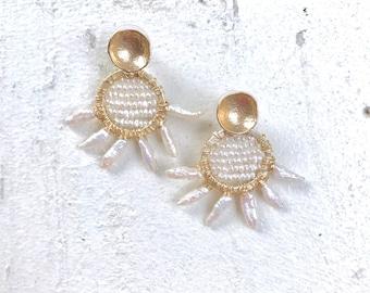 Pearl on Pearl Earrings