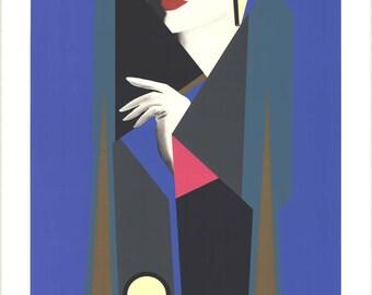 Gerald Razzia-Clandestine-1985 Serigraph-SIGNED
